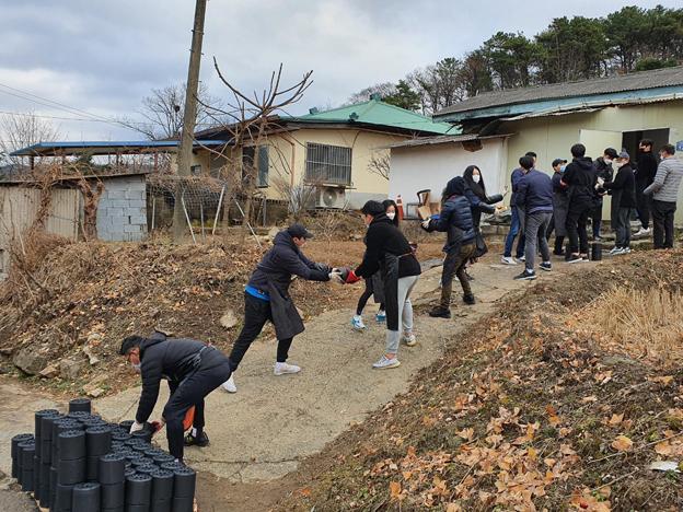 법원읍 소재, (주)JHK코퍼레이션 사랑의 연탄 나눔 봉사