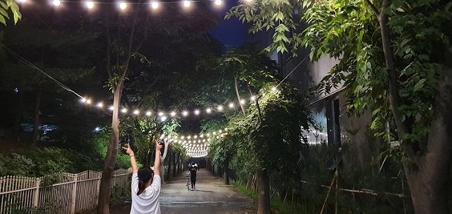 금촌2동 보행로 감성조명, 시민들 호평