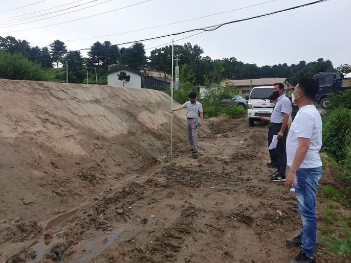 장단면 지역 농지불법 매립 및 성토행위 합동점검